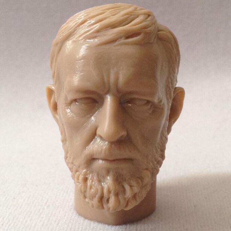 Star Wars Obi-Wan Kenobi Head Sculpt non peinte Fit 1//6 Scale Action Figure Model