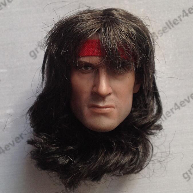 1//6 Rambo First Blood Sylvest Stallone Head Sculpt For Hot toys PHICEN Figure