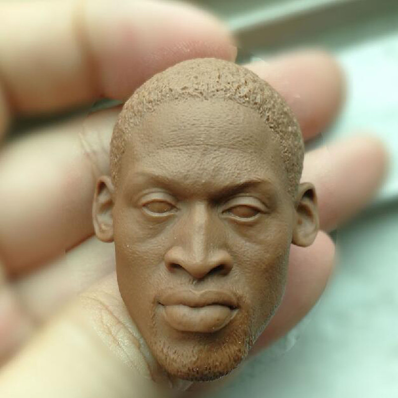 "Blank 1//6 Scale Super Star The bulls Dennis Rodman Head Sculpt Unpainted Fit 12/"""