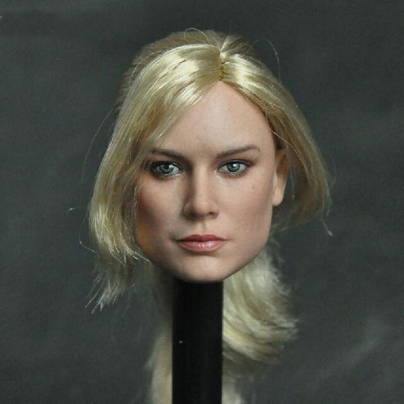 Delicate Painting 1//6 Scale Captain Marvel D Style Brie Larson Head Sculpt