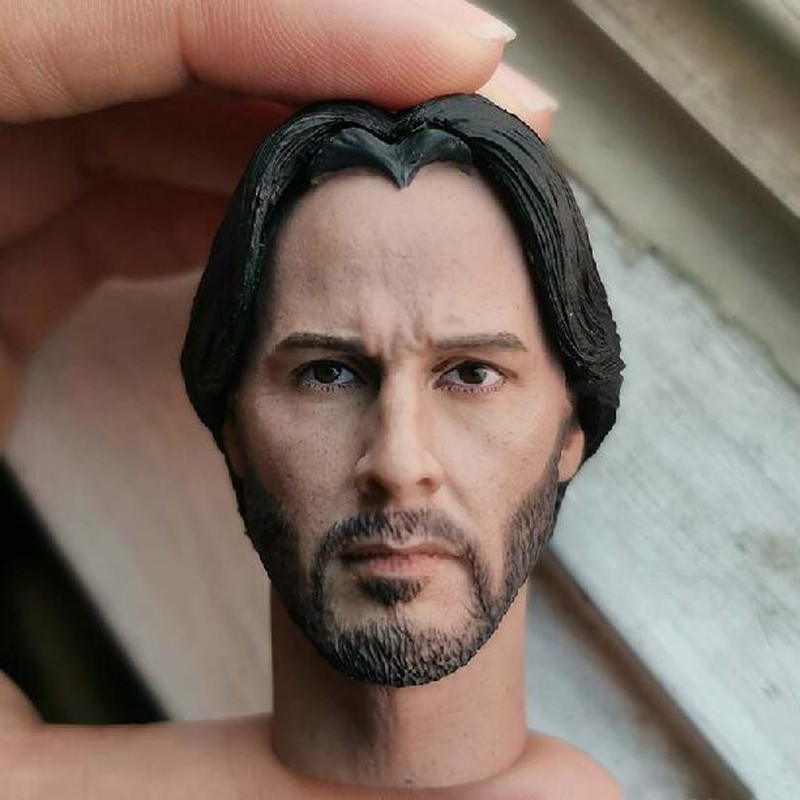 1//6 Scale John Wick Keanu Reeves Male Head Sculpt Fit 12/'/' Action Figure Toy
