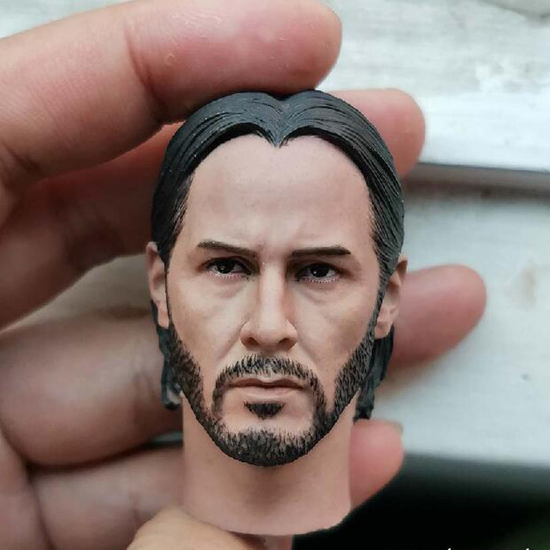 1//6 Scale Keanu Reeves John Wick 2.0 Head Sculpt For Hot Toys