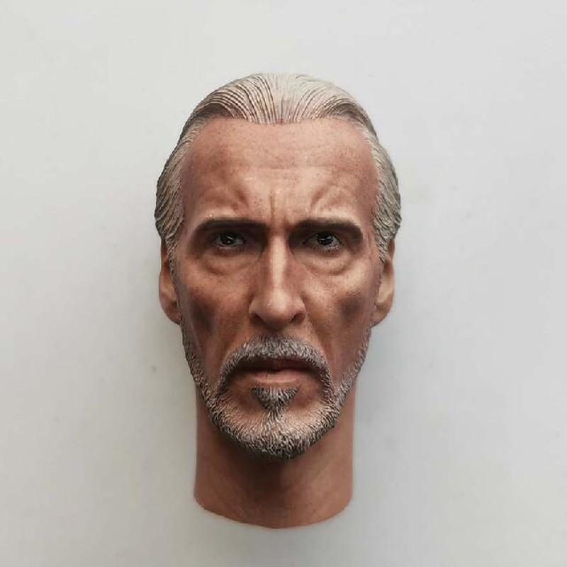 "Delicate Painting Hot 1//6 Prequel Trilogy Count Dooku Head Sculpt Fit 12/"" Figure"