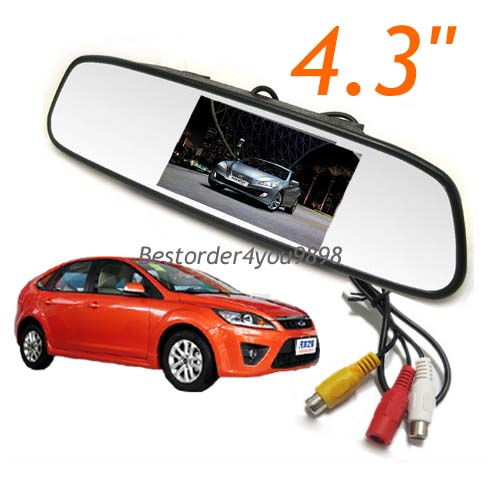 Screen LCD Car Rearview Mirror Monitor For Car Rear View DVR Camera
