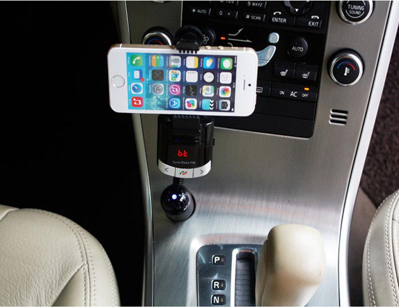 Bluetooth Fm Transmitter Car Kit Handsfree Charger Mp3