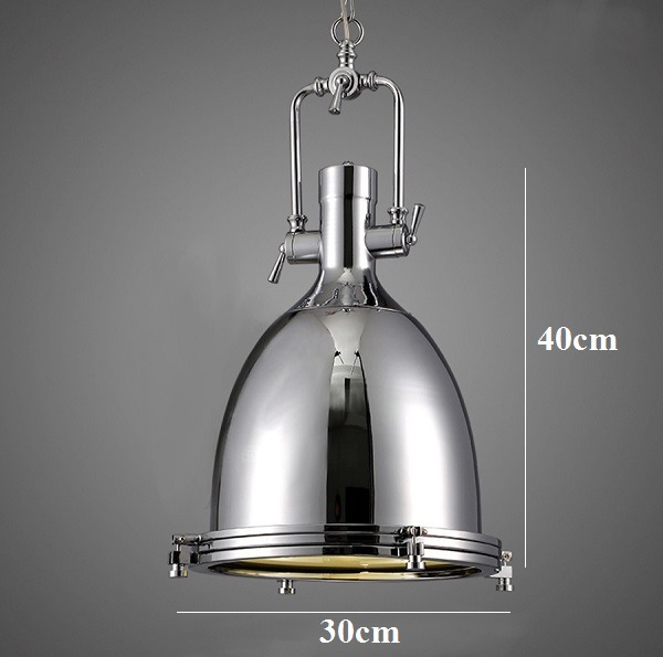 NEW Modern Industrial Retro Nautical Chrome Pendant Lamp