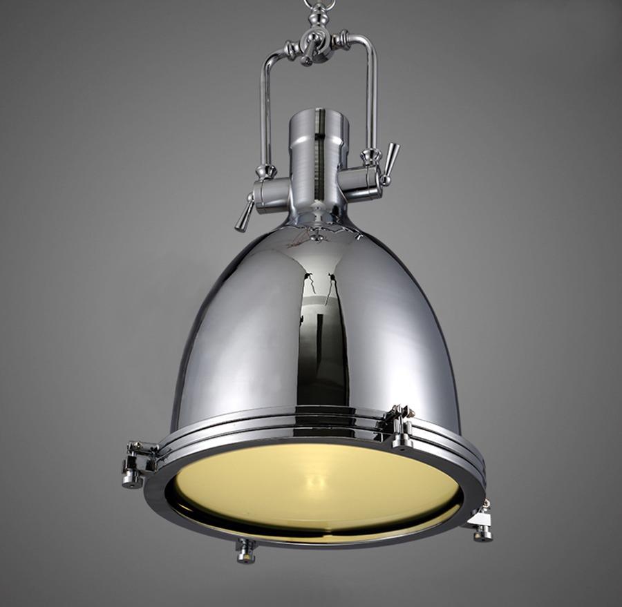 Nautical Light Fixtures Kitchen: NEW Modern Industrial Retro Nautical Chrome Pendant Lamp