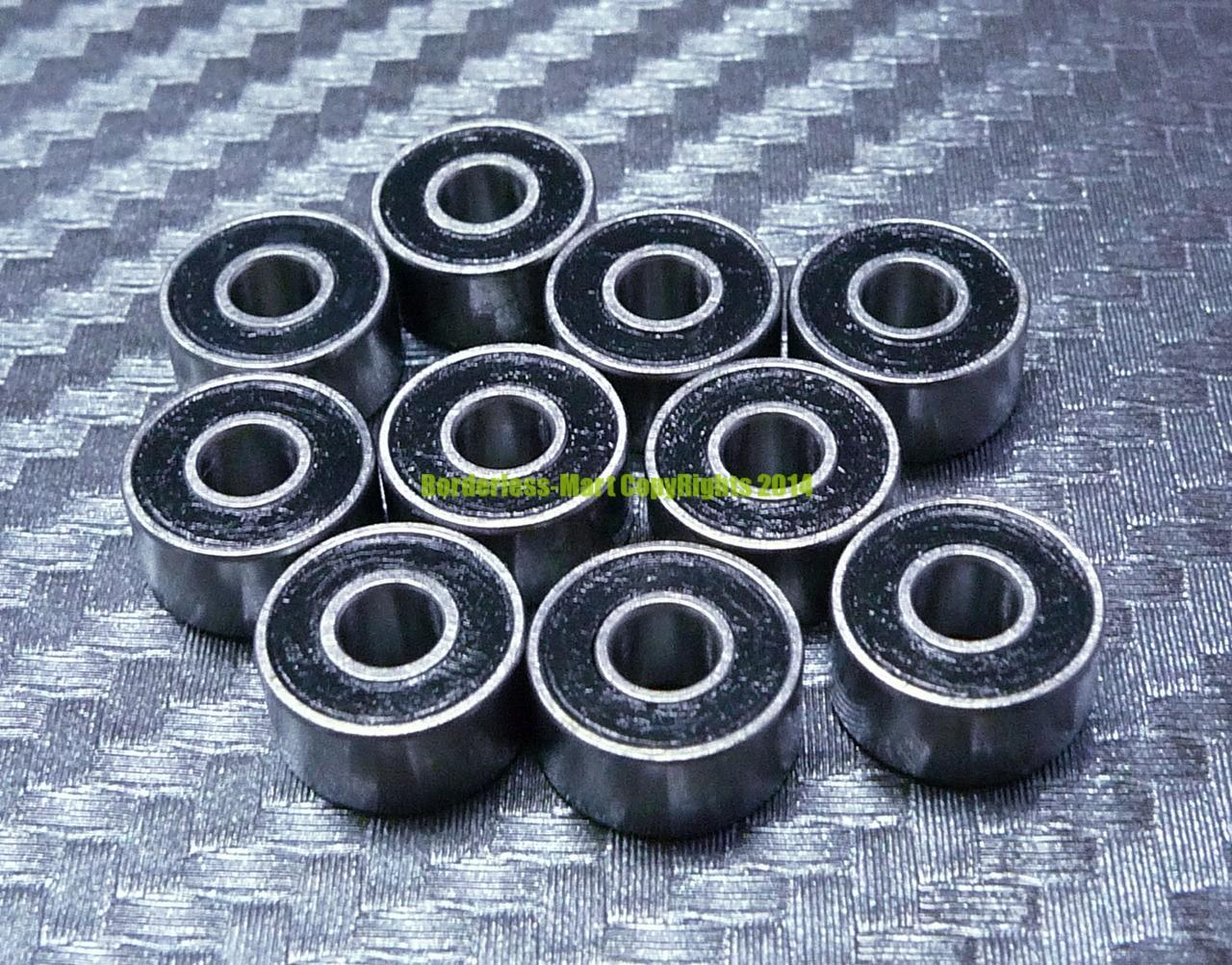 "Rubber Sealed Ball Bearing Bearings BLUE 3//16/"" x 3//8/"" x 1//8/"" 10 Pcs R166-2RS"