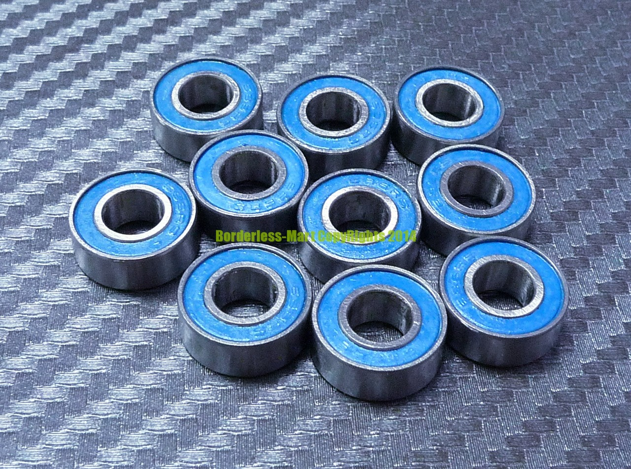 3x7x3 mm 10pc 683-2RS Blue Rubber Sealed Ball Bearing Bearings 3*7*3 683RS 683