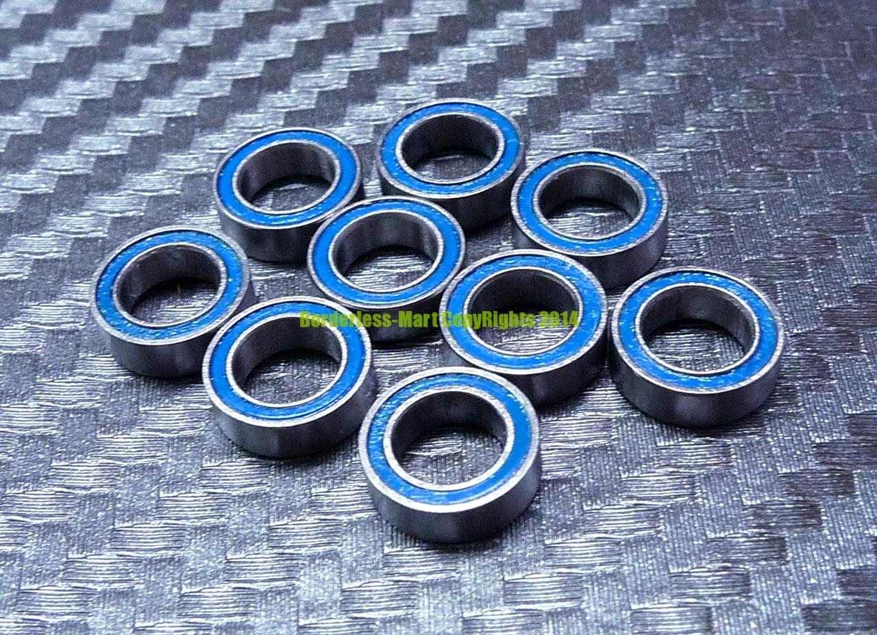 Rubber Sealed Ball Bearing Blue 25 PCS ABEC-3 MR125-2RS MR125RS 5x12x4 mm