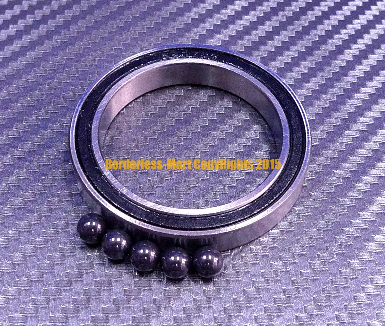 1 PC Si3N4 Ball Bearings 6703RS 6703 Hybrid Ceramic Bearing 17*23*4 mm ABEC-1