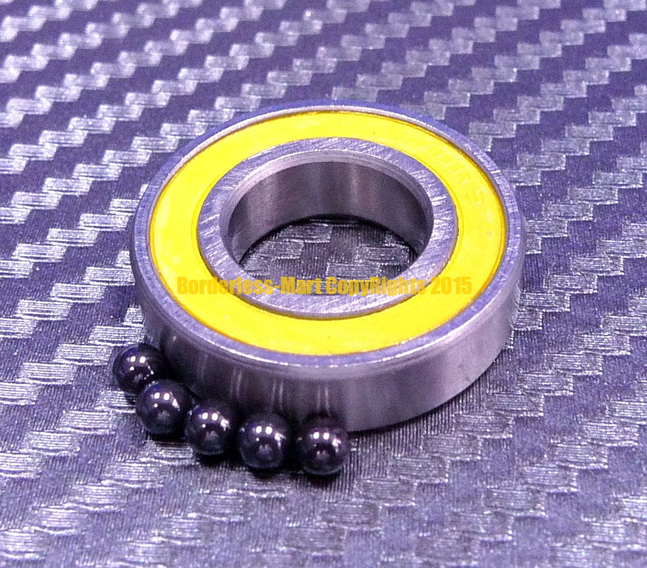 440c Stainless Steel Rubber Sealed Ball Bearings S606-2RS 10 PCS 6x17x6 mm