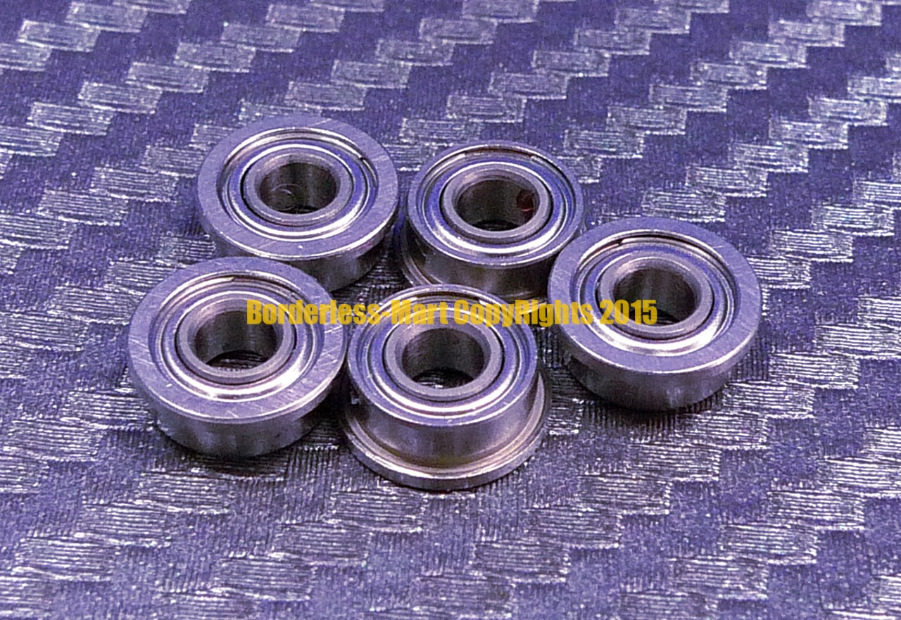 SF623zz F623zz 440c Stainless Steel FLANGED Ball Bearing 3x10x4 mm QTY 10