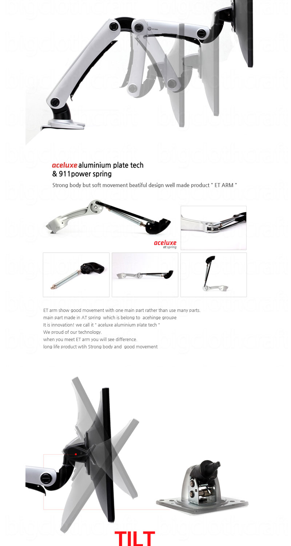 New Computer Monitor Desk Mount Swing Arm Adjustable Tilting Swivel Et B1