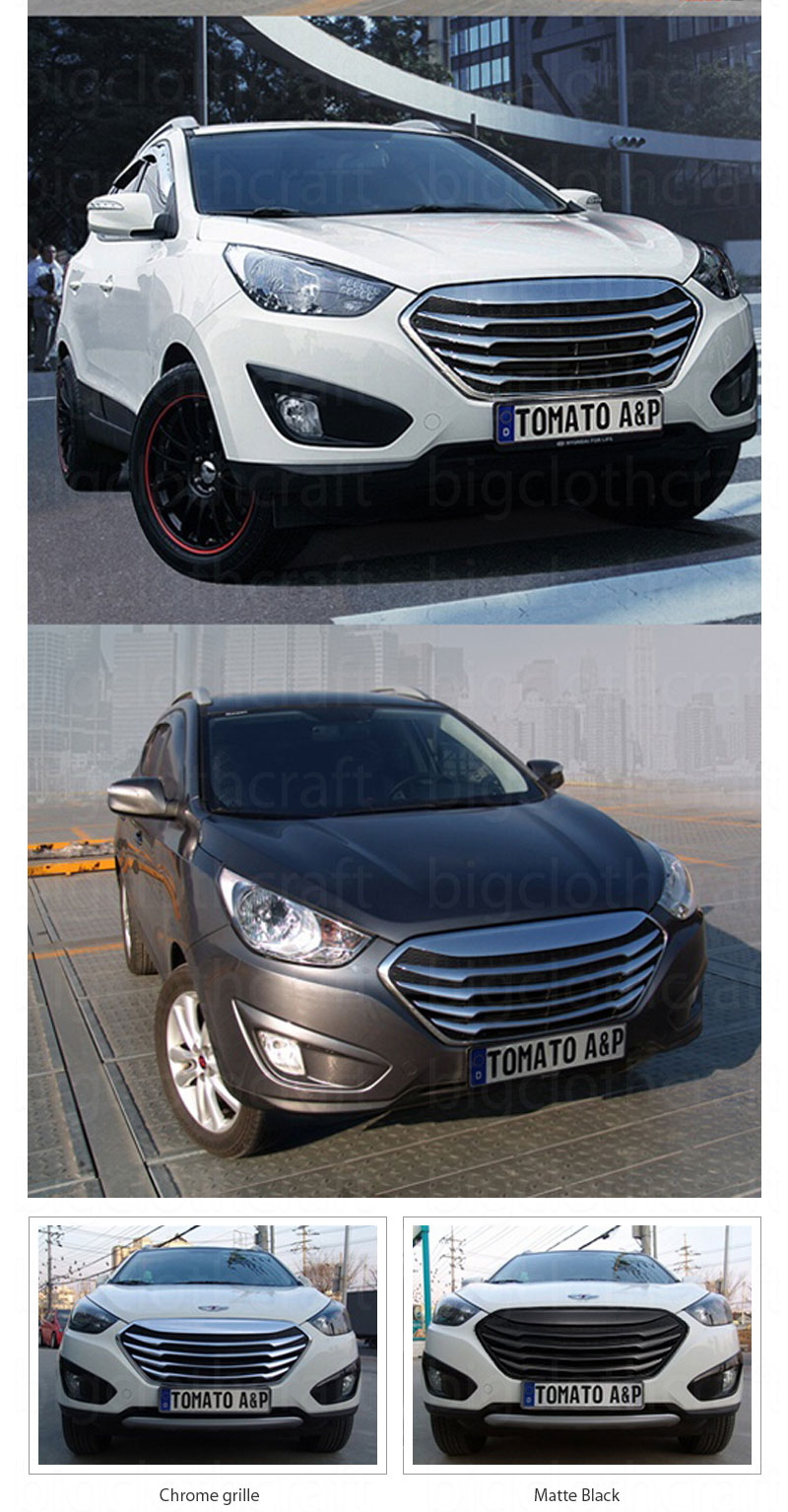 New Chrome Front Hood Radiator T Grill Tuning For Hyundai