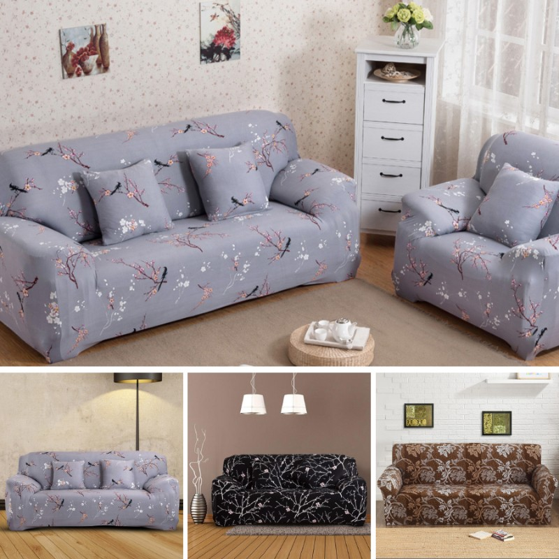 1//2//3//4 Sofa Covers Couch Slipcover Stretch Elastic Fabric Settee Protector Fit