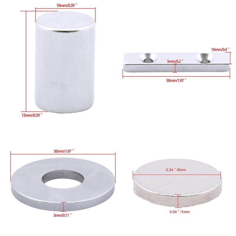 N35 Starke Neodym MagneteRund Magnet Für Pinnwand Kühlschrank 25x2mm//10x6mm