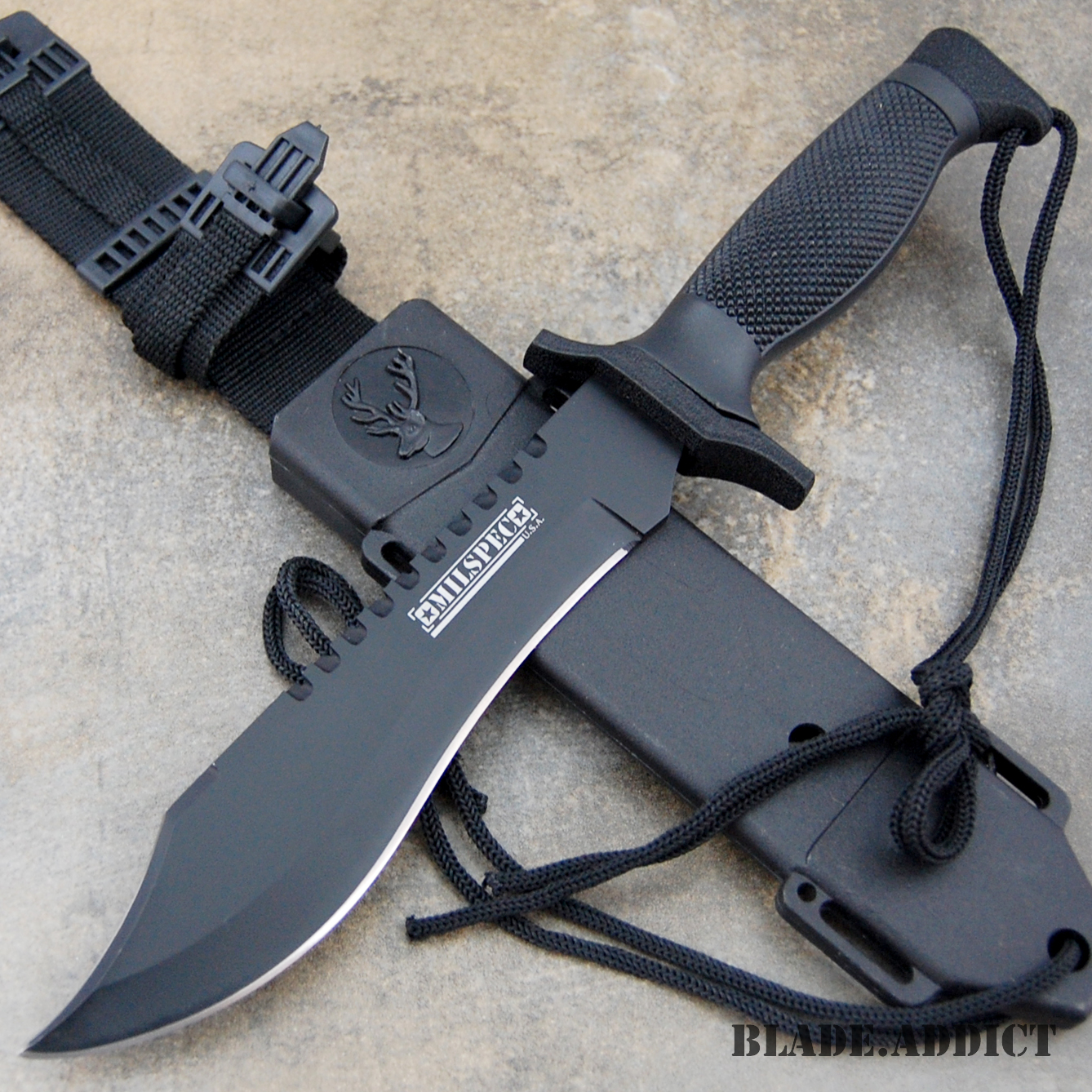 12 Quot Tactical Bowie Survival Hunting Knife W Sheath