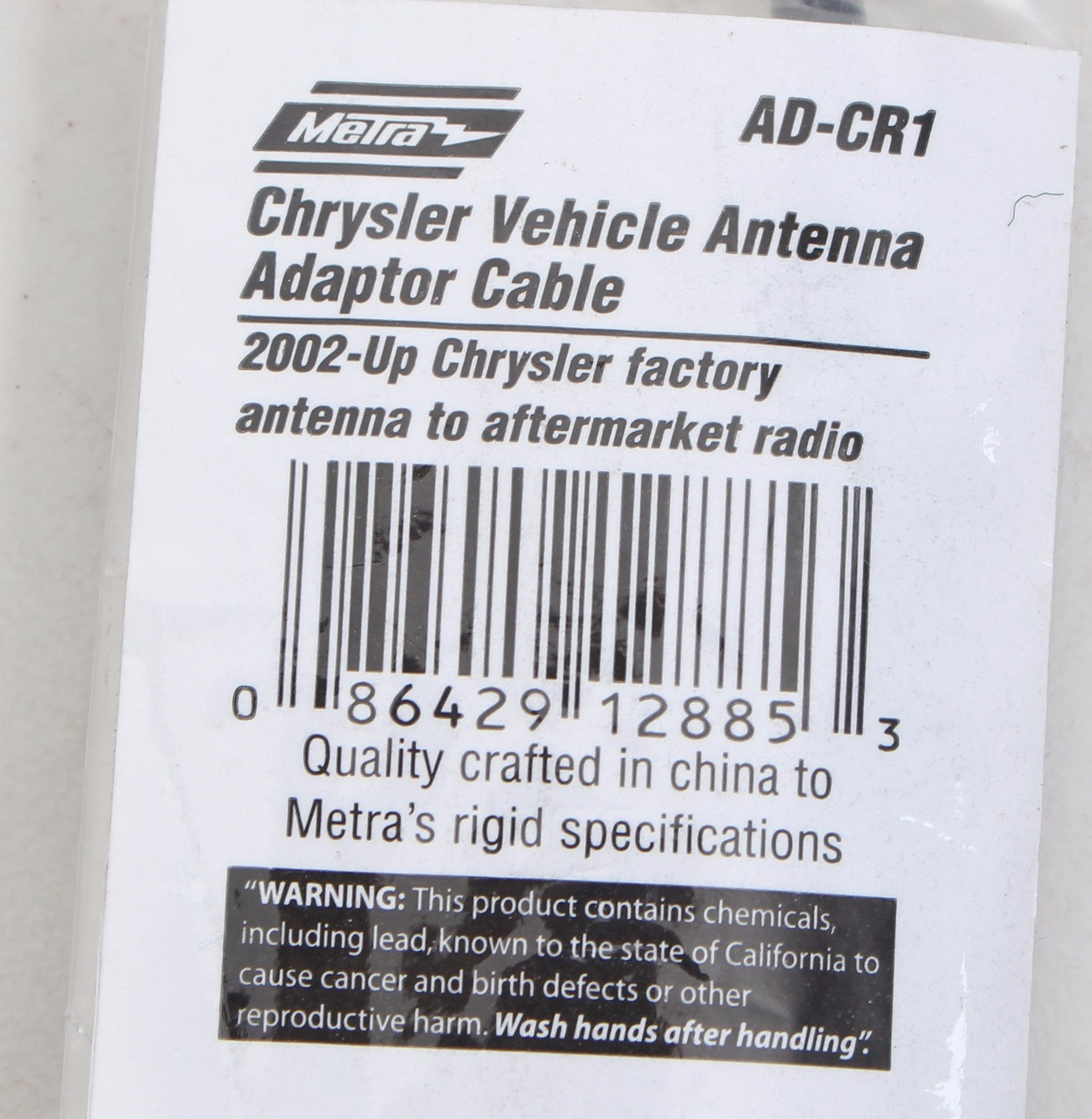 Metra AD-CR1 Vehicle Antenna Adapter Cable for Select Model Chrysler 2002-Up