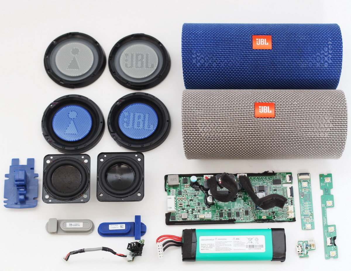 JBL Flip 10 Replacement Parts Board/Ports/Battery/Speaker/Grill