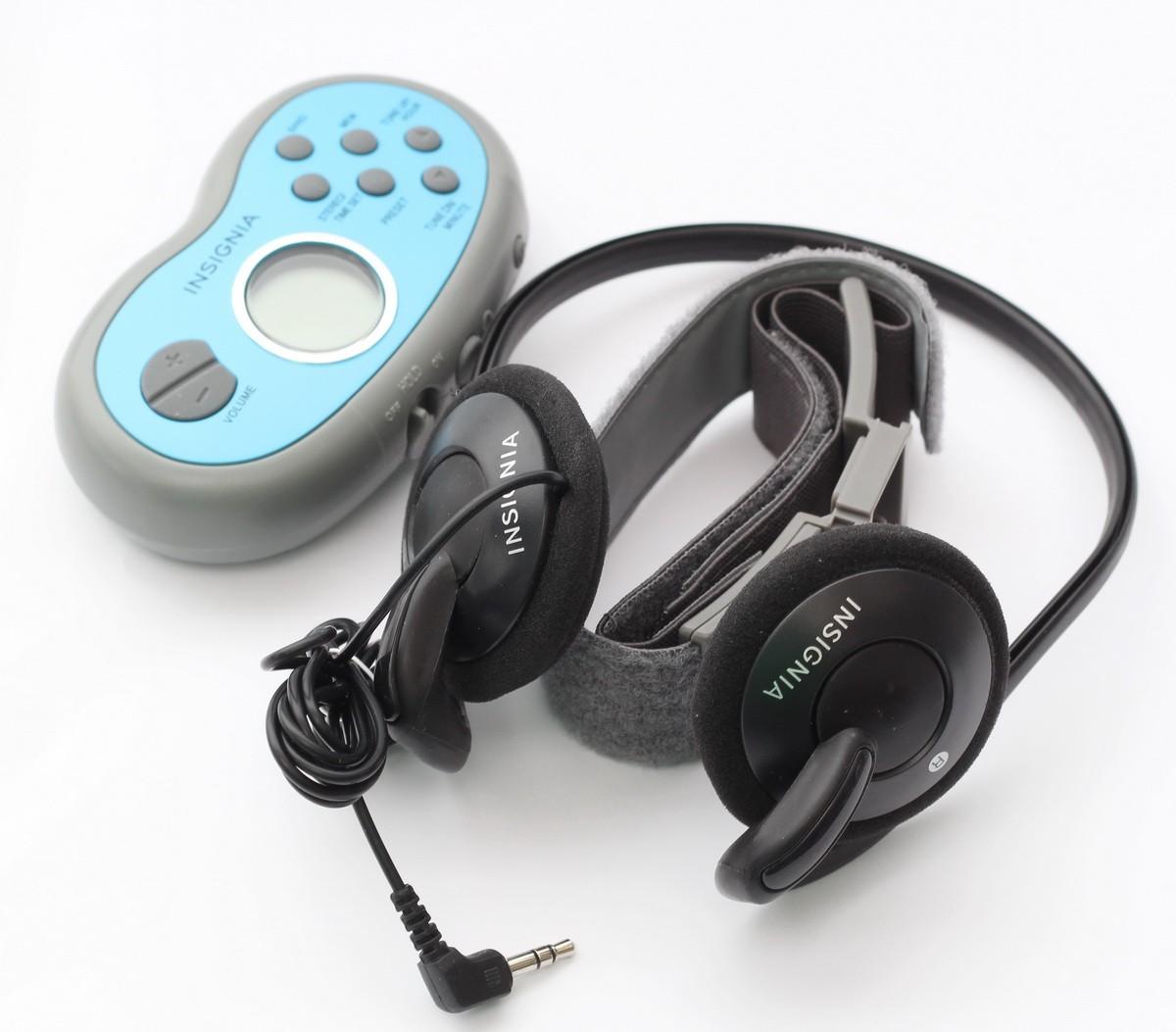 8de051d6e8e Details about Insignia NS-R5111A Portable Digital AM/FM Armband Radio with  headphones - SR