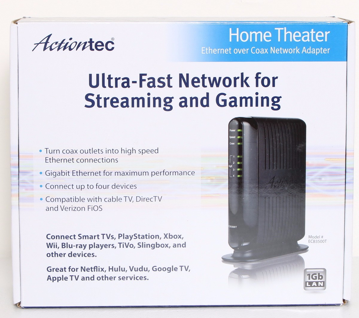 ACTIONTEC Home Theater Coax Network Streaming (MOCA) Adapter