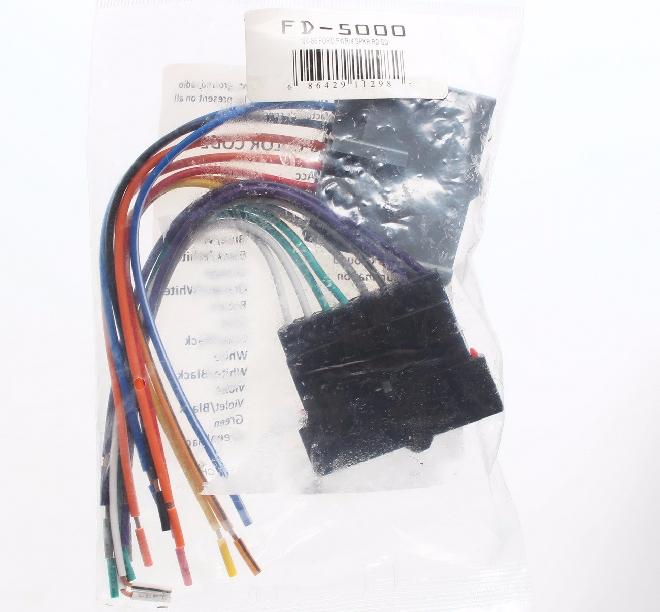 details about radio wiring harness aftermarket stereo select ford metra  70-1770 fd-5000 ob