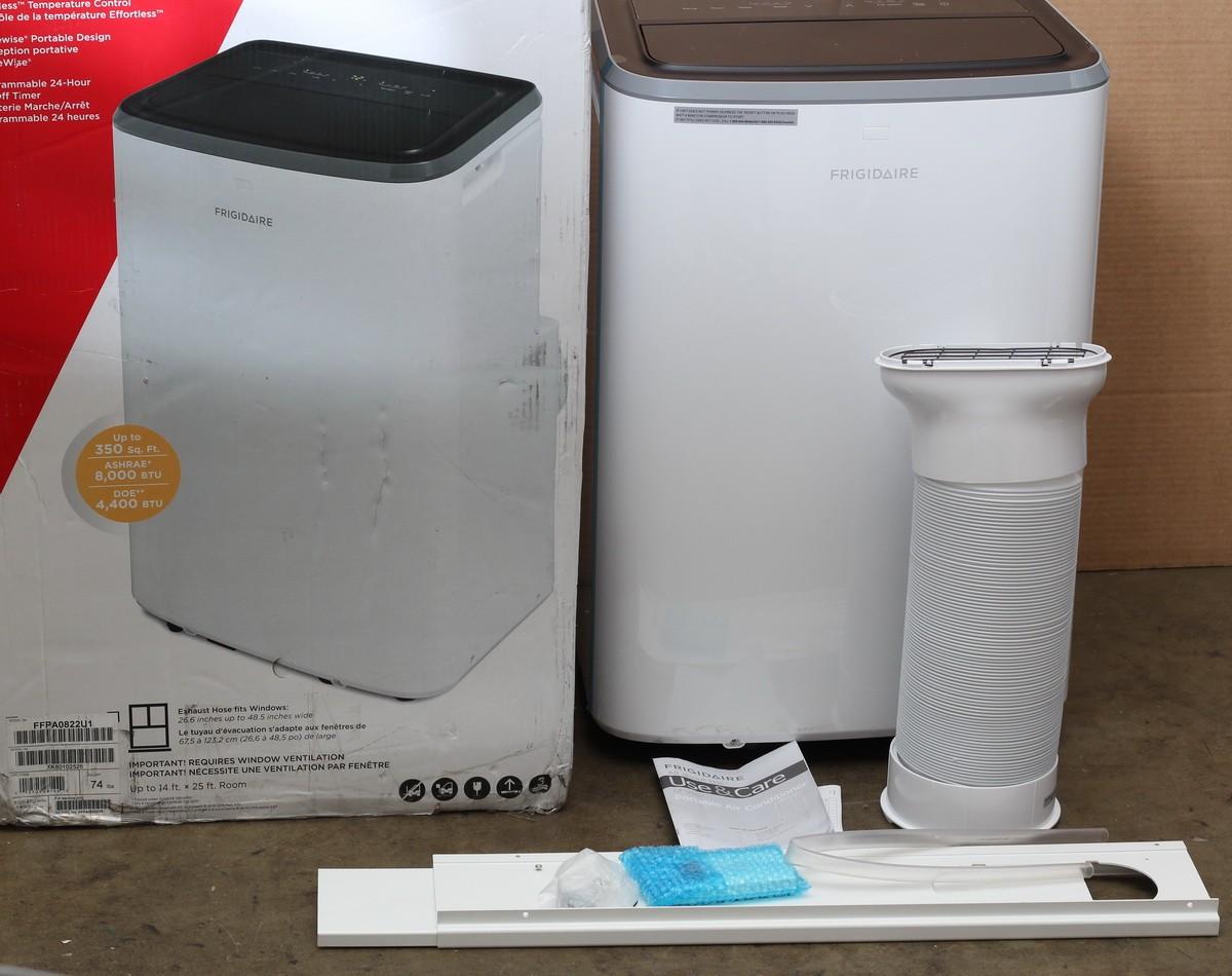 Details about Frigidaire 8,000 BTU Portable Air Conditioner w/ Hose kit /  Remote FFPA0822U1