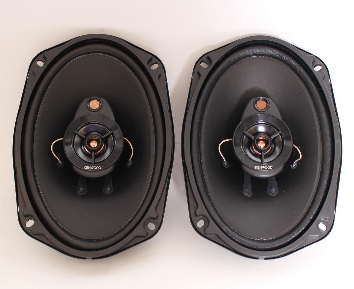 """Kenwood KFC-6966R 6/"""" x 9/"""" 3-Way Car Speakers with Cloth Cones Black Pair PRICE"""