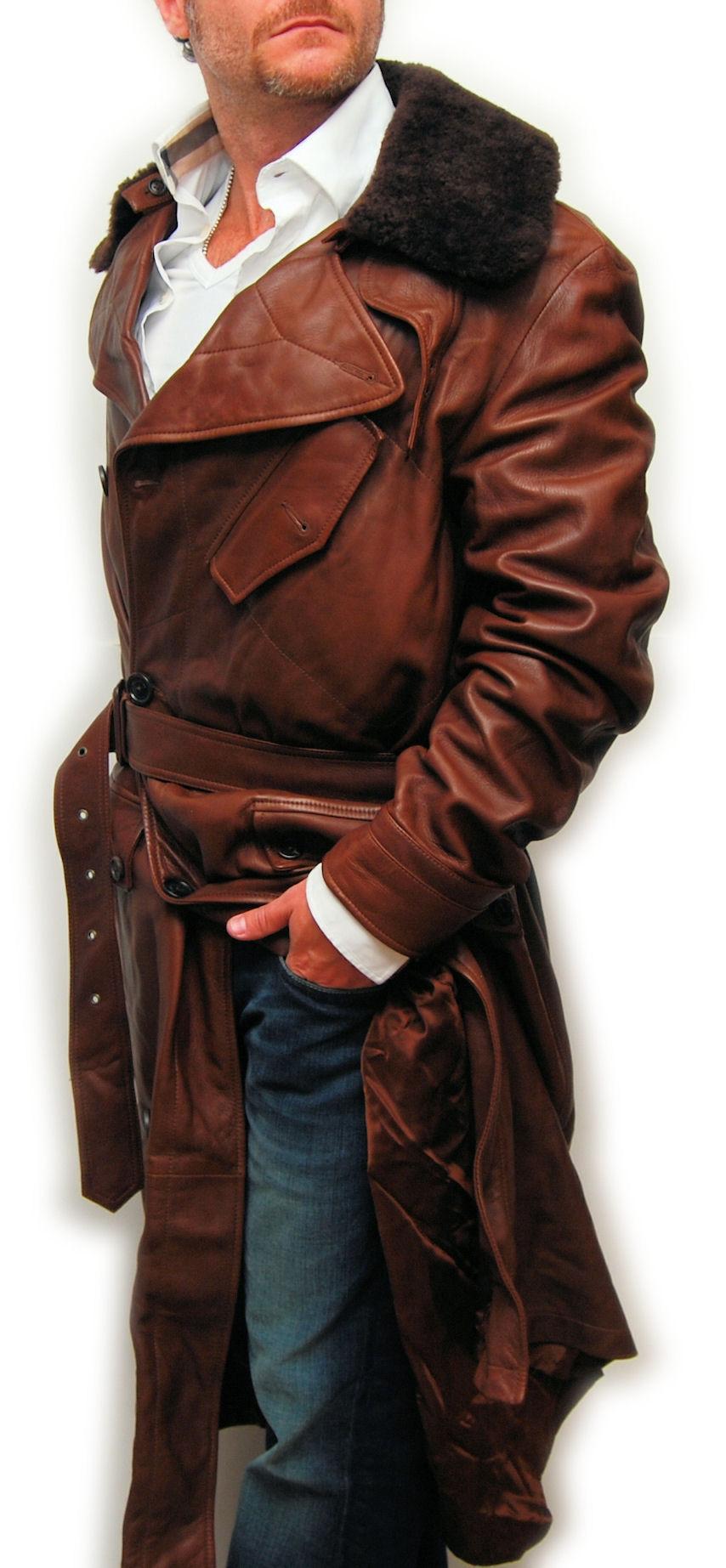 38516226708 Ralph Lauren Purple Label Men Leather Shearling Fur Jacket .