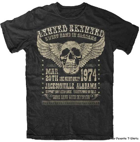 04c54dc5 Lynyrd Skynyrd Alabama 74 Adult T Shirt | eBay