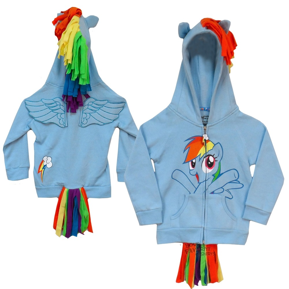 db4713ff24b My Little Pony Rainbow Dash Costume Joy With Wings Licensed Kids Hoodie 4-12