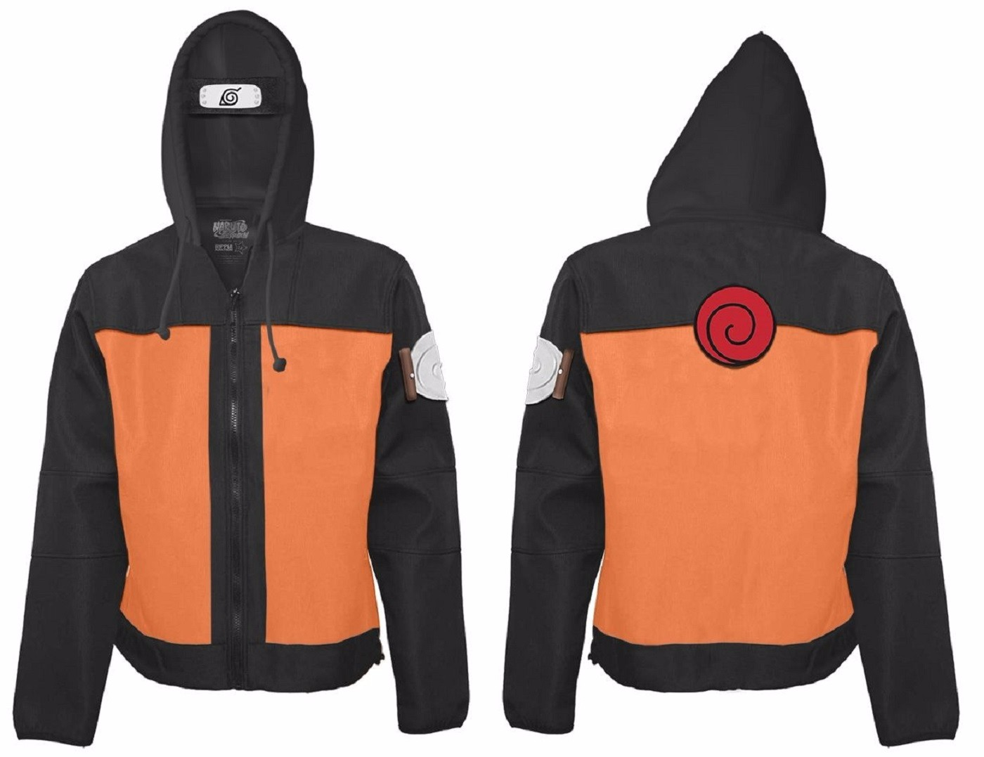 Click Thumbnails to Enlarge  sc 1 st  eBay & Naruto Shippuden Naruto Costume Adult Zip Up Hoodie | eBay