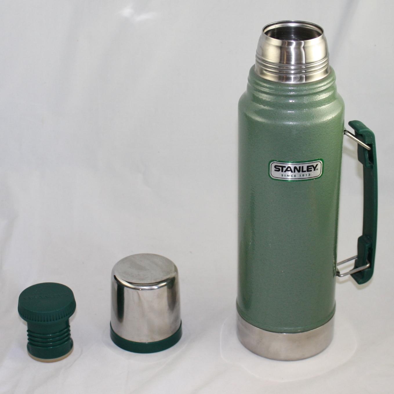 aladdin stanley stainless steel vacuum bottle thermos 1 1 qt quart 1 liter 34oz ebay. Black Bedroom Furniture Sets. Home Design Ideas
