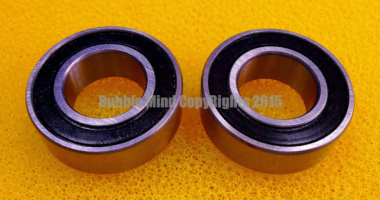 2 PCS 55x100x21 mm Rubber Sealed Ball Bearing Set 6211RS BLACK 6211-2RS