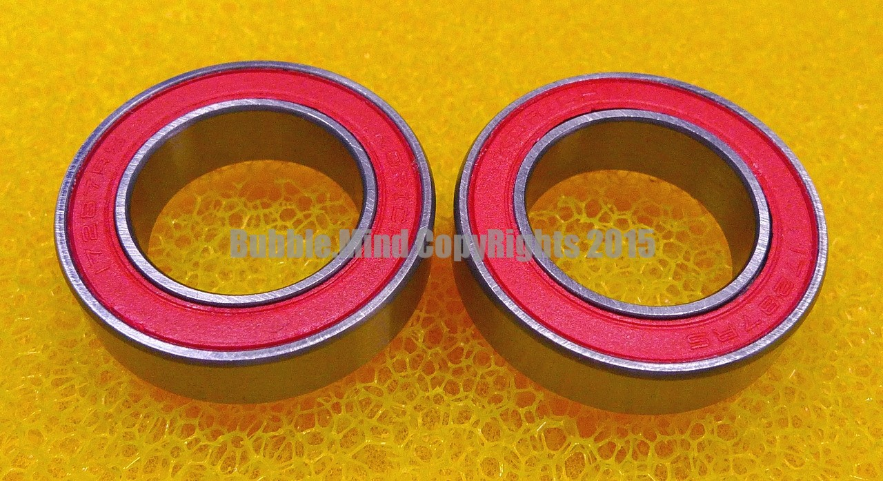 6805//W6-2RS 1 PCS 25x37x6 mm RED Rubber Sealed Ball Bearing Bearings