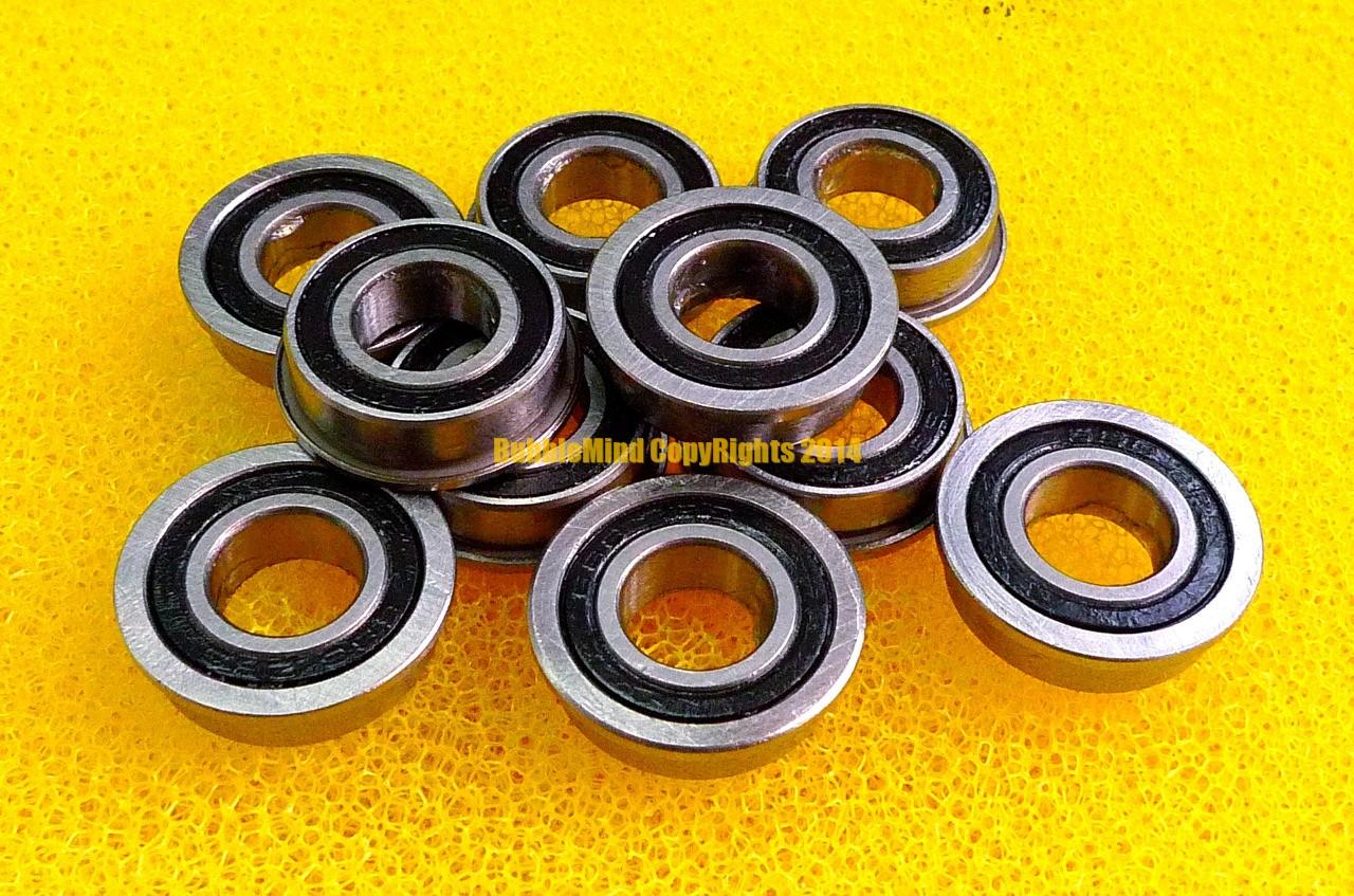 8x14x4 MM Flansch Metall Gummi Verpackt Ball Lager MF148RS 5pcs MF148-2RS