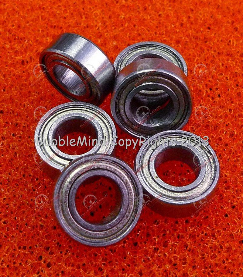 "Double Metal Shielded Ball Bearing R168 5 PCS R168ZZ 1//4/"" x 3//8/"" x 1//8/"""