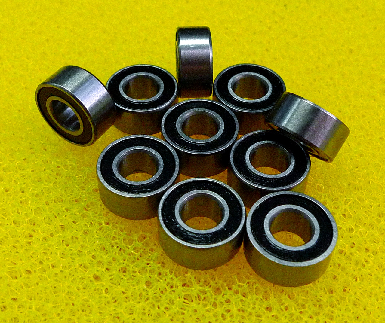 "1//4/"" x 1//2/"" x 3//16/"" 10 PCS R188-2RS Metal Rubber Sealed Ball Bearings R188RS"