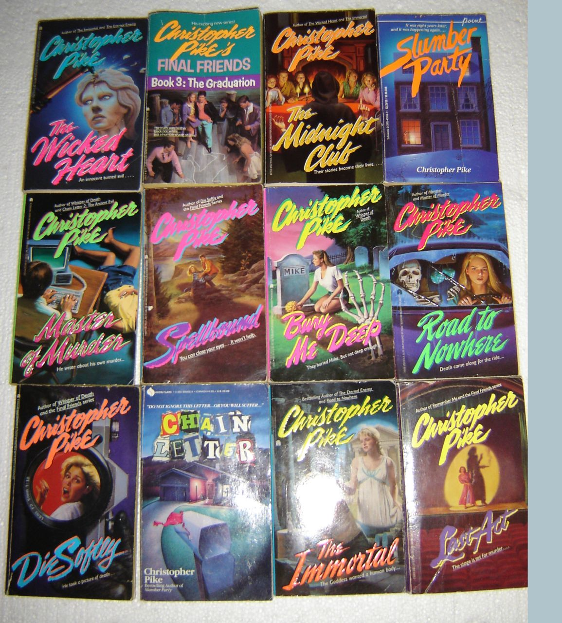 13 Christopher Pike Paperback Mystery Books Good Cond