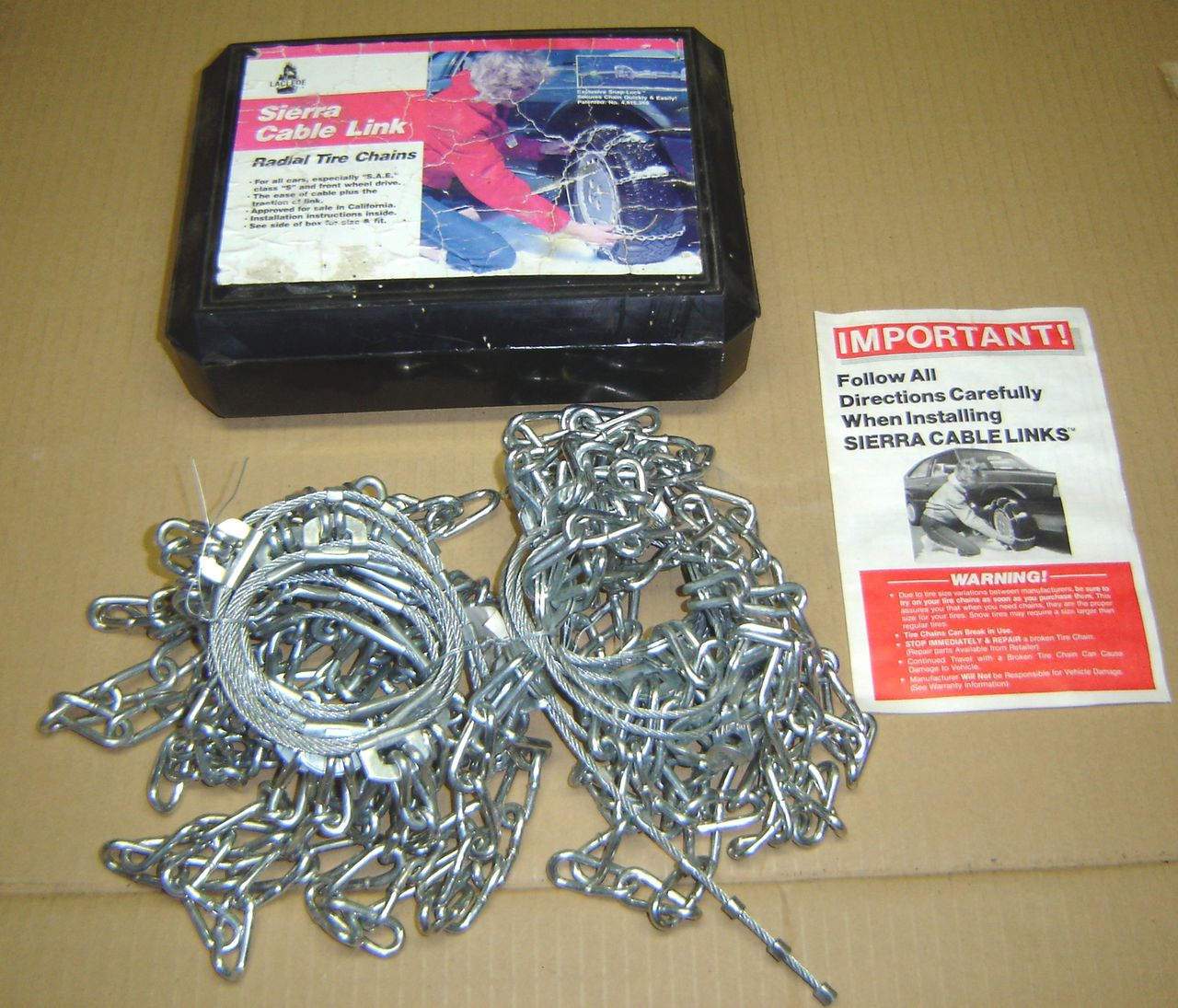 Laclede Sierra Cable Link Radial Tire Chains 1926 Ebay