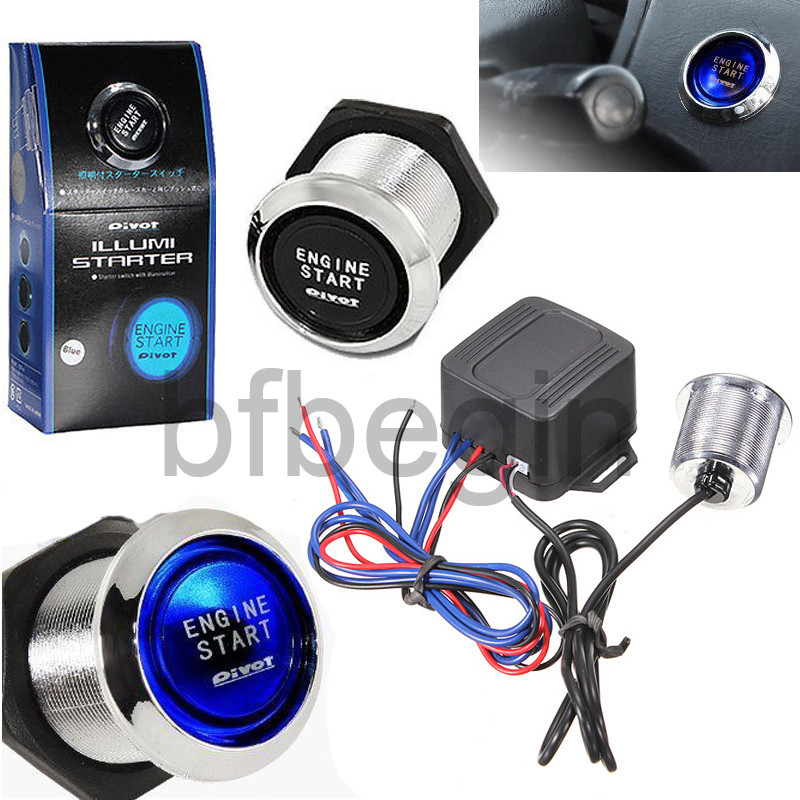 Push To Start Button Ignition: 12V Car Engine Start Push Button Touch Switch Ignition
