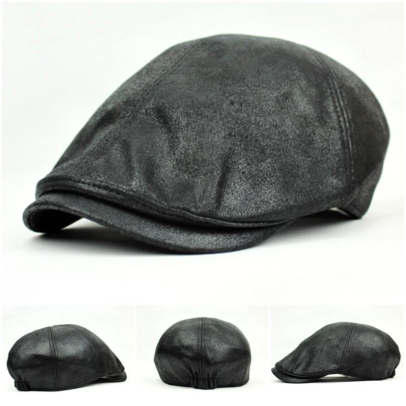UK SELLER - New Mens Flat Caps Baker boy Gatsby Hats Wax ...