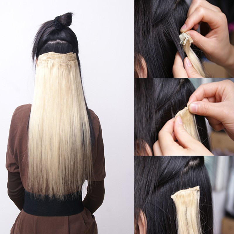 Real Thick 18clips Clip In Full Head Hair Extensions Extension As