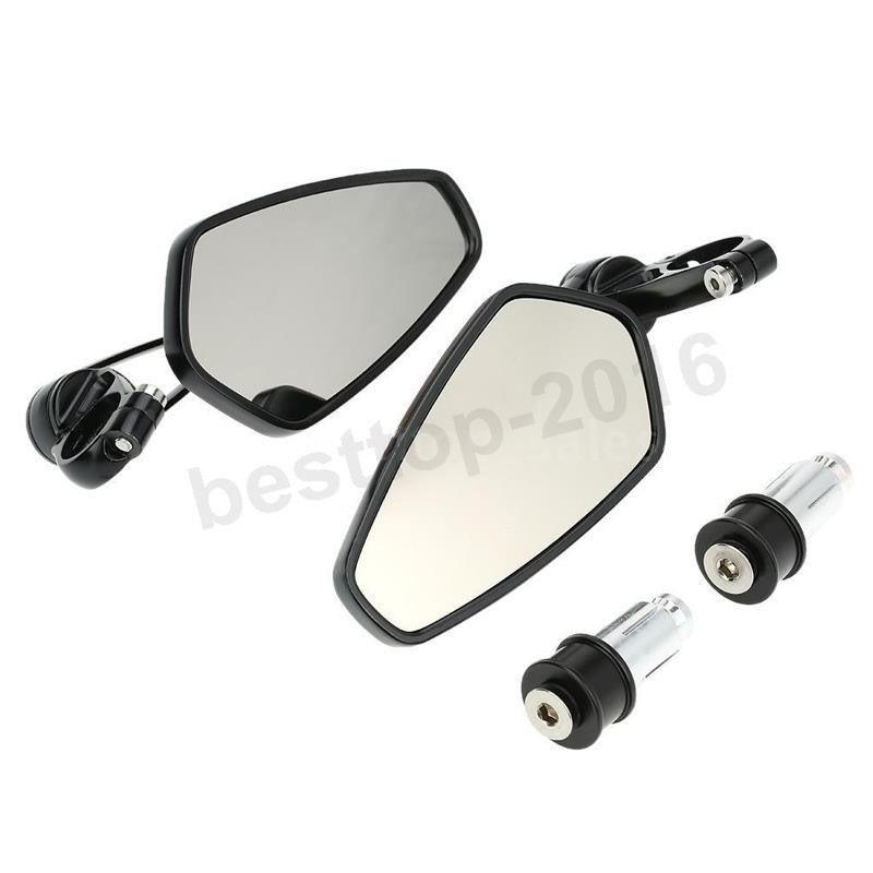 """CNC 7//8/"""" Handle Bar End Rearview Mirrors For Ducati 1098 1198 1199 Panigale"""