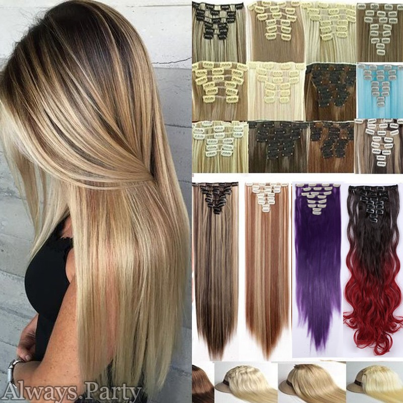 Us Ponytail Clip In Hair Extensions Jaw Claw On Pony Tail Real As