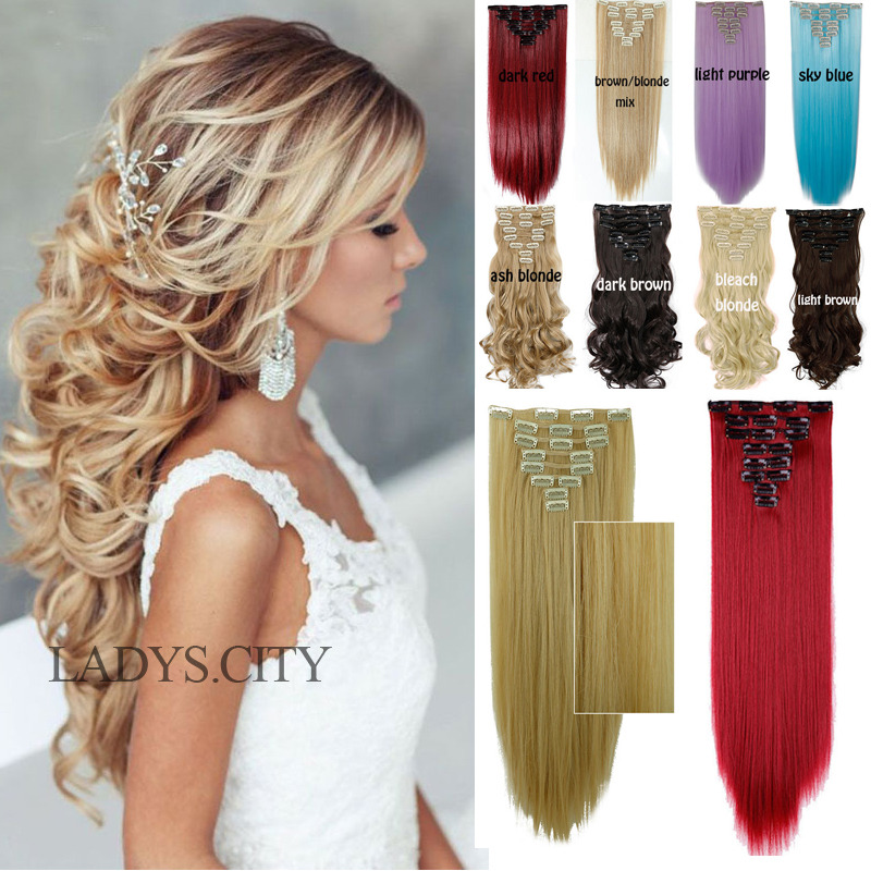 100 Real Thick Clip In Hair Extensions Long Curly Full Head Uk Hair