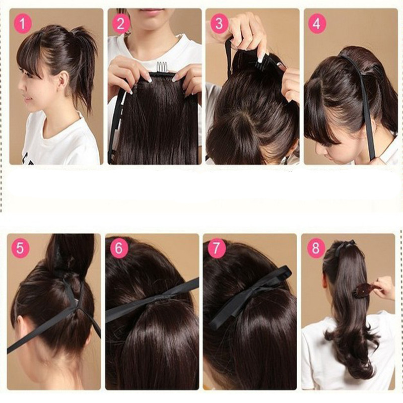 Uk Ladies Wrap On Ponytail Clip In Pony Tail Real Thick Hair