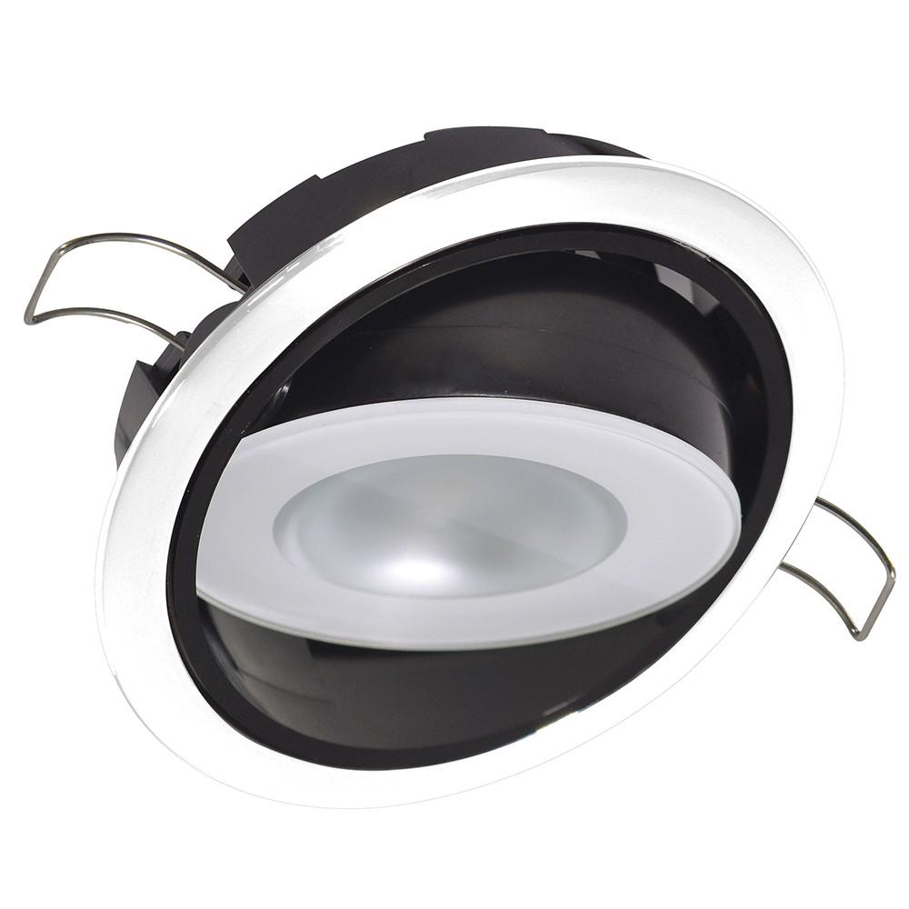 NEW Lumitec Mirage Positionable Down Light - Spectrum Rgbw Dimming - White Bezel