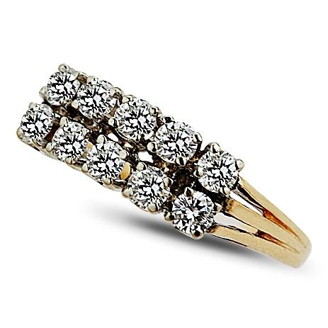 14k Yellow Gold Diamond Wedding Band Circa 1950 1960S